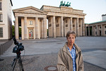 Gabriele Hayes at the Brandenburg Gate at dawn